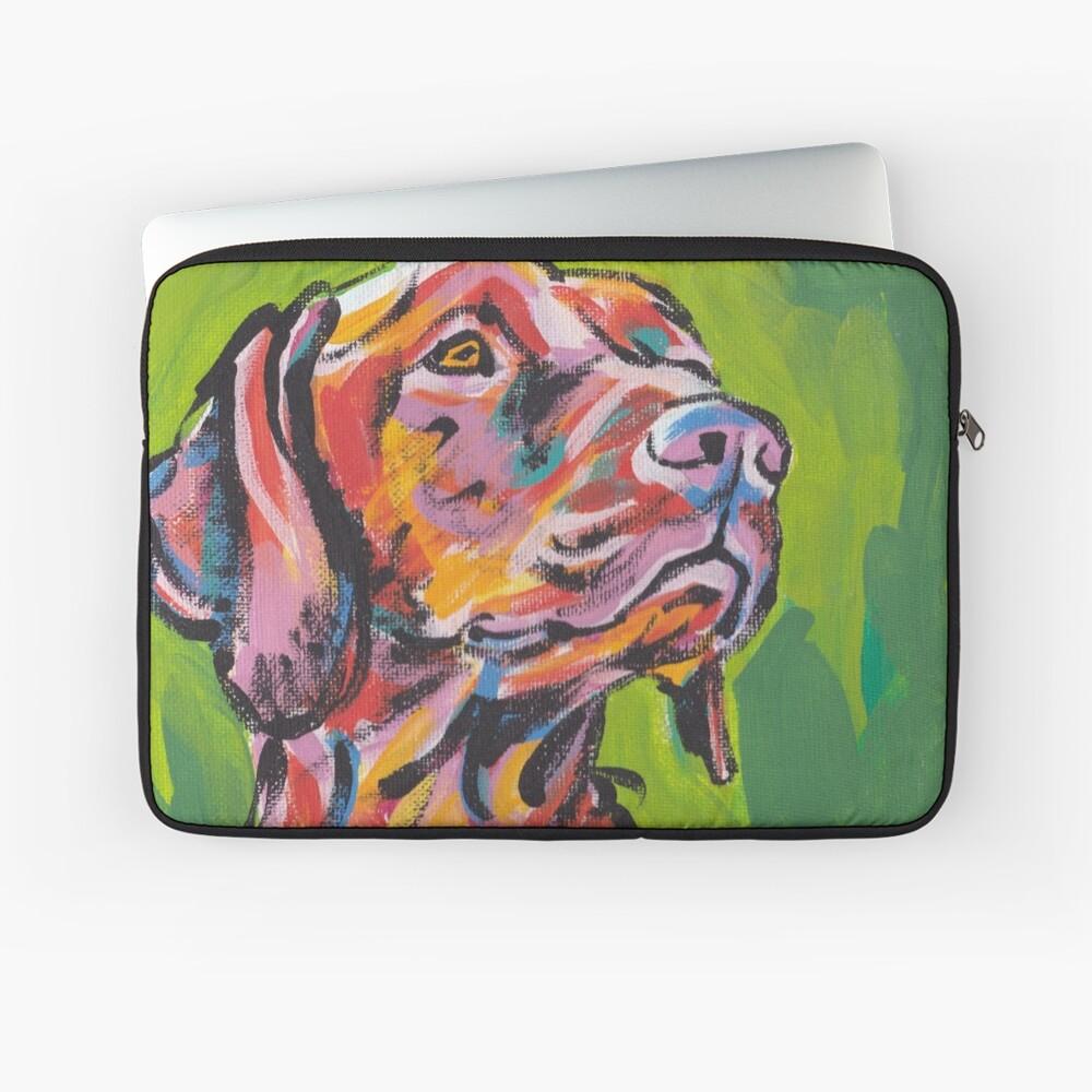 Vizsla Dog Arte pop colorido brillante Funda para portátil