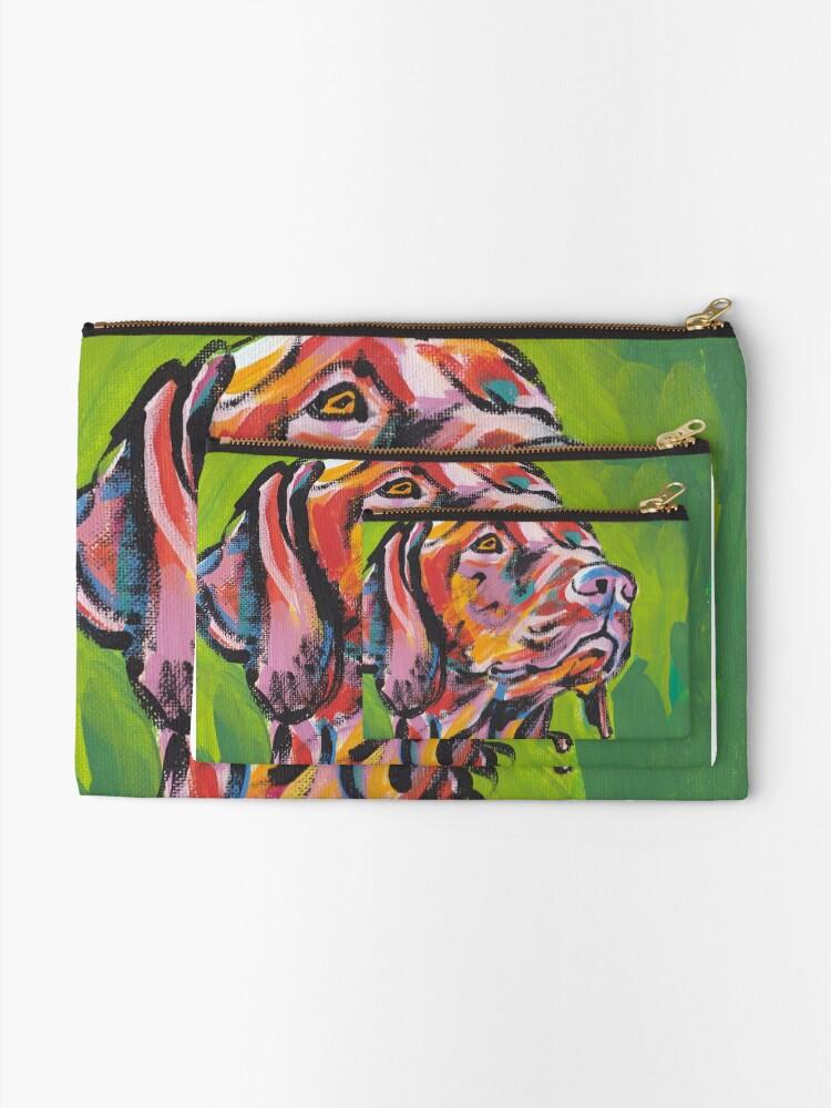 Vista alternativa de Bolsos de mano Vizsla Dog Arte pop colorido brillante