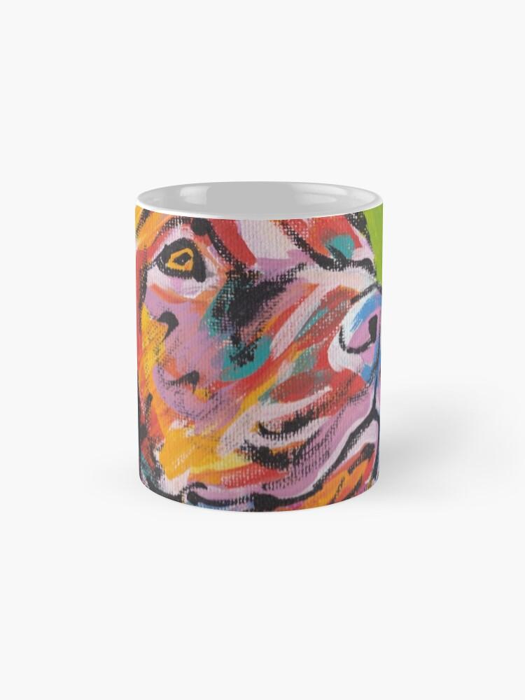 Vista alternativa de Taza Vizsla Dog Arte pop colorido brillante