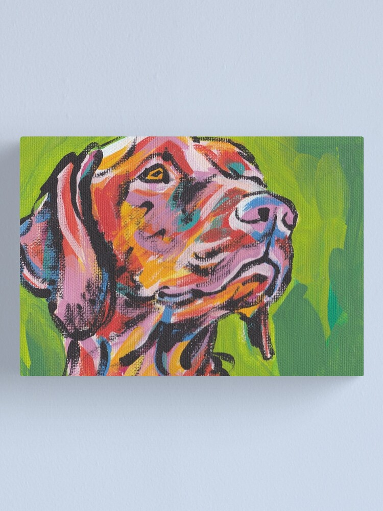 Alternate view of Vizsla Dog Bright colorful pop dog art Canvas Print