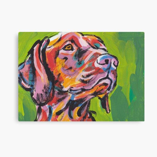Vizsla Dog Bright colorful pop dog art Canvas Print