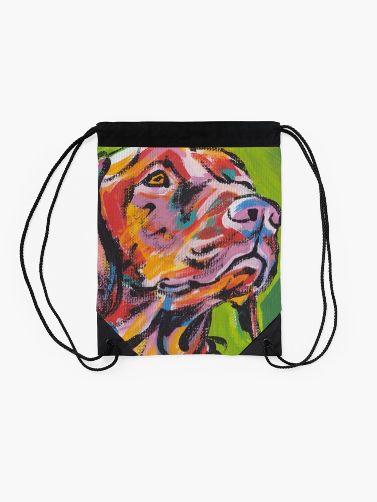 Vista alternativa de Mochila saco Vizsla Dog Arte pop colorido brillante