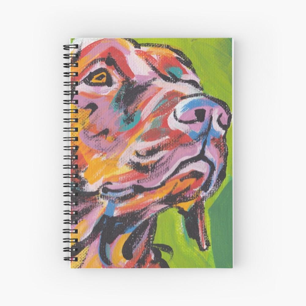 Vizsla Dog Arte pop colorido brillante Cuaderno de espiral