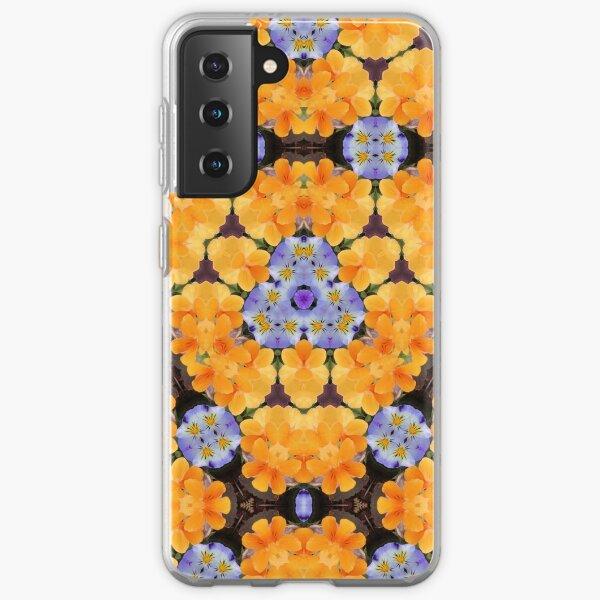 Blue and Yellow Kaleidoscope Samsung Galaxy Soft Case