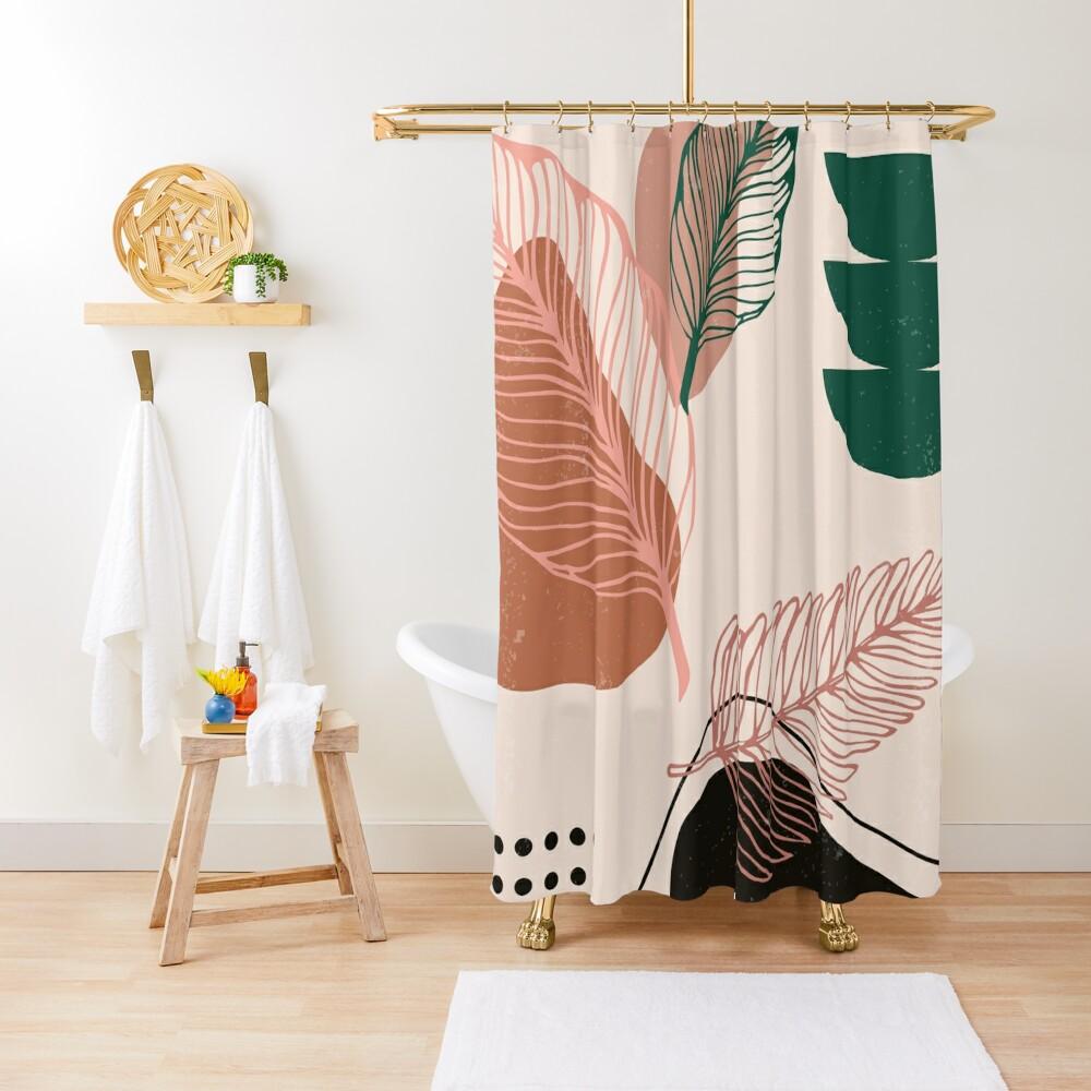 Life Zen Abstract Shower Curtain