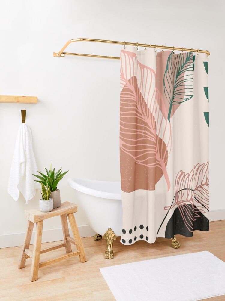Alternate view of Life Zen Abstract Shower Curtain
