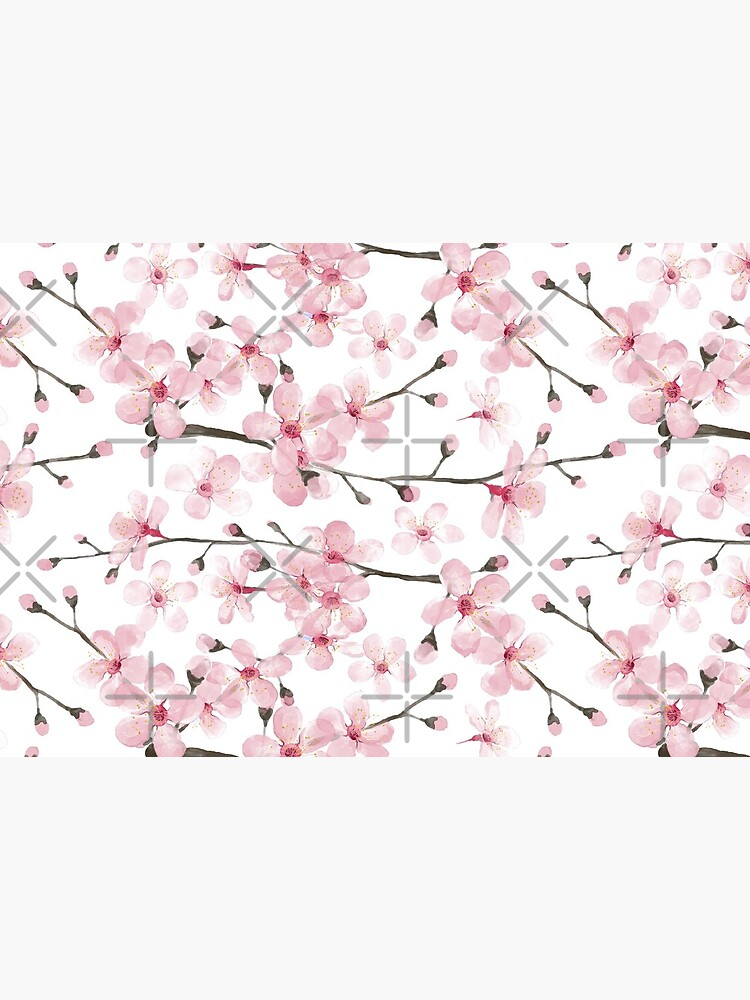 Cherry Blossom watercolor fashion and home decor by Magenta Rose Designs by MagentaRose