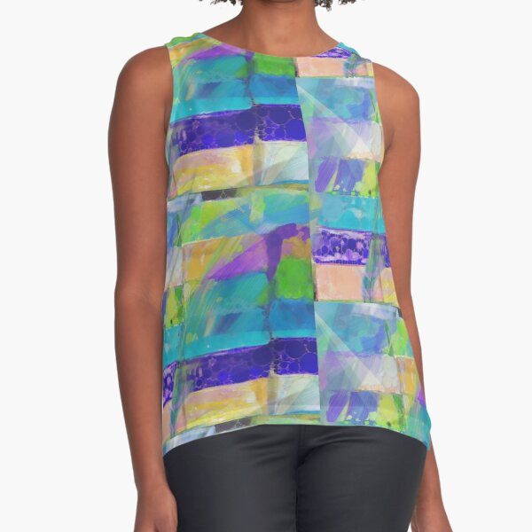 Painted Glass Sleeveless Top