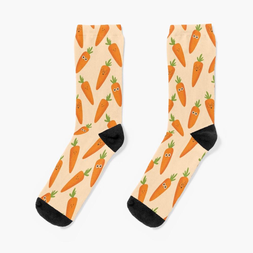 Happy Carrots Socks