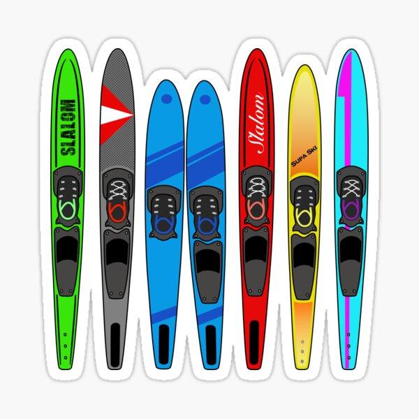 Rack of Water Skis Sticker