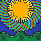 circle landscape #2  by richard  webb