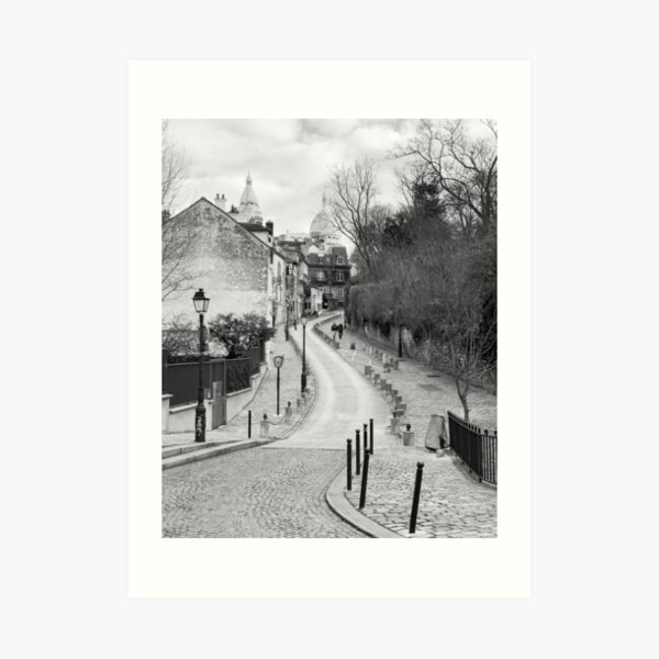 Streetview in Montmartre Paris Art Print