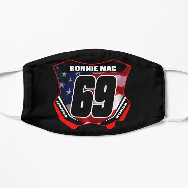 Plaque d'immatriculation Ronnie Mac 69 Conception de plaque d'immatriculation américaine 2 temps Motocross et Supercross Legend Masque sans plis