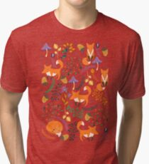 Foxes in the magic forest Tri-blend T-Shirt