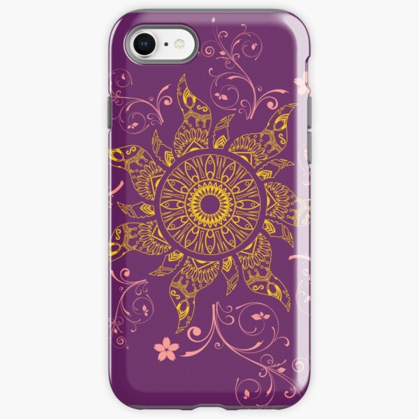 Mandala Gold Flower iPhone Tough Case