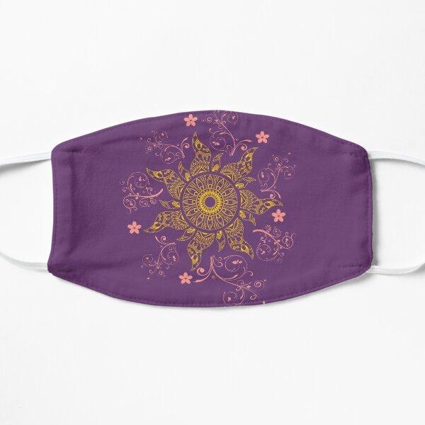 Mandala Gold Flower Flat Mask