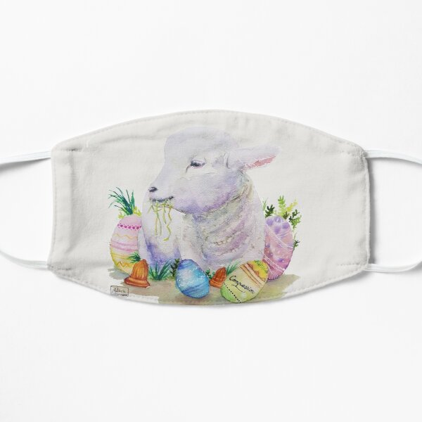 Agneau de Pâques Easter Compassion Masque sans plis