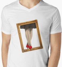 Hot Shoes - Red! Men's V-Neck T-Shirt