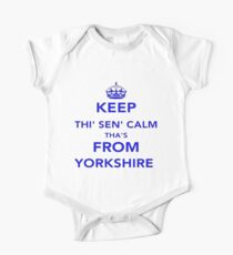 Keep Thi Sen Calm Thas From Yorkshire One Piece - Short Sleeve
