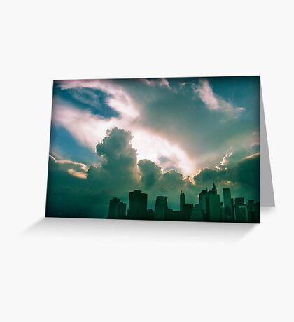 Clouds over Mannhatan Greeting Card