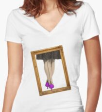 Hot Shoes - Purple! Women's Fitted V-Neck T-Shirt