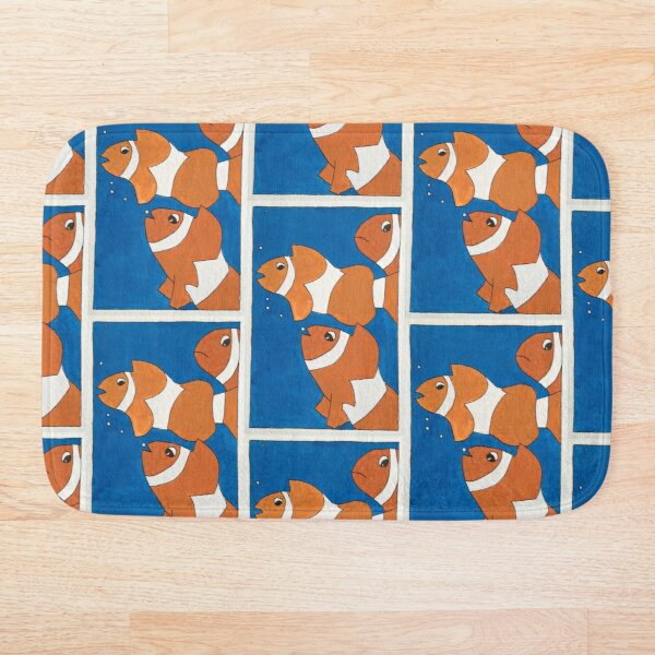 Orange Clownfishes in the Ocean Bath Mat