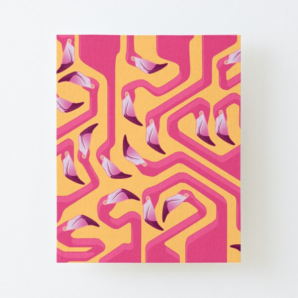 Flamingo Maze Canvas Mounted Print