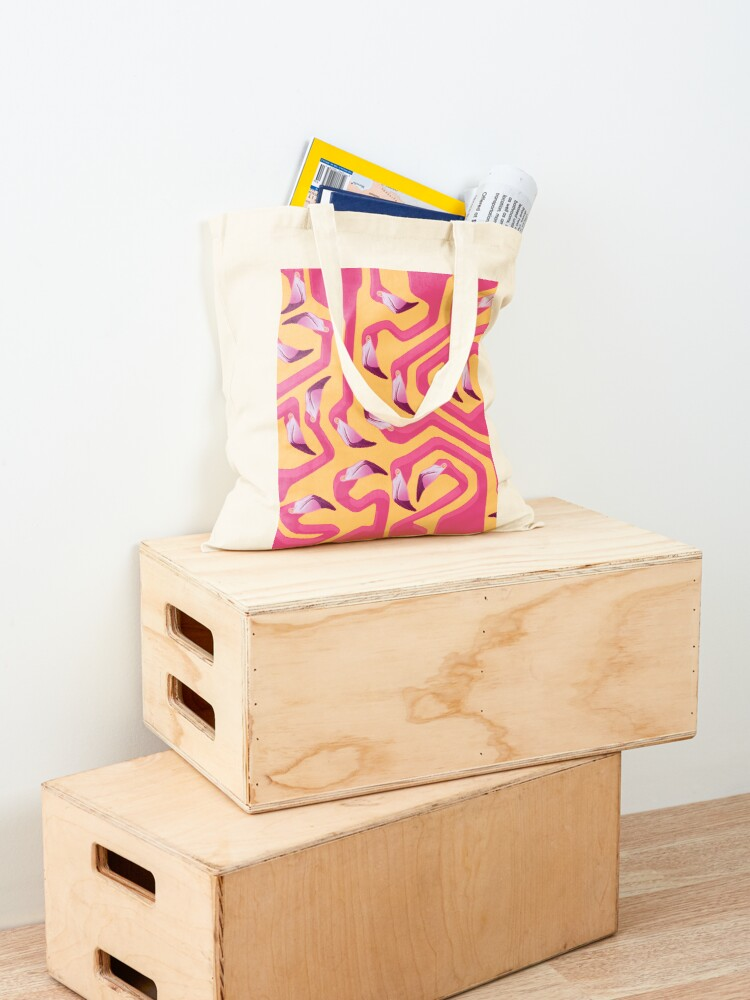 Alternate view of Flamingo Maze Tote Bag