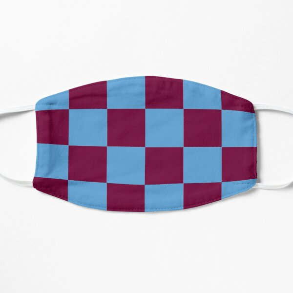 Aston Villa Claret and Blue Checkered Fan Flag Mask
