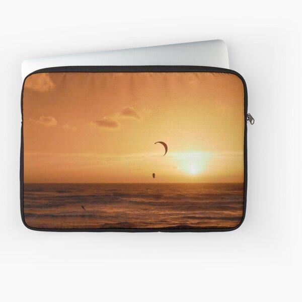 Kite surfing at sunset Laptop Sleeve