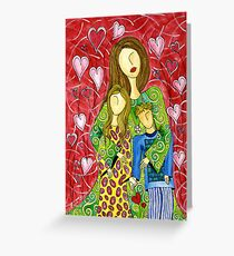 Mother's Heart Garden ~ it never ends Greeting Card