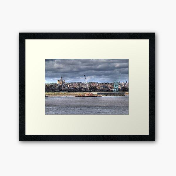 Cranes on the Medway  Framed Art Print