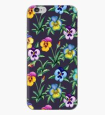 Pansy violet pattern iPhone Case
