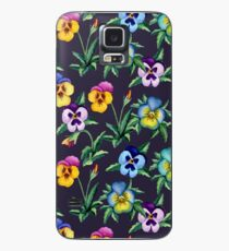 Pansy violet pattern Case/Skin for Samsung Galaxy
