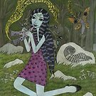 Forest Girl with Flute by Bethy Williams