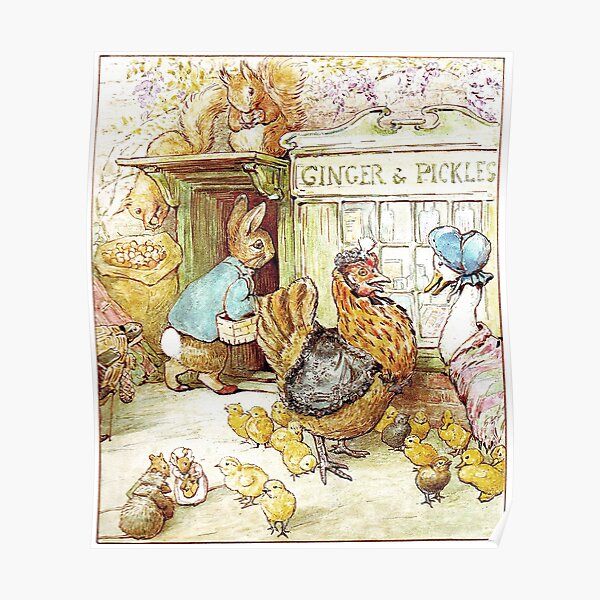 Boutique de gingembre et cornichons - Beatrix Potter Poster