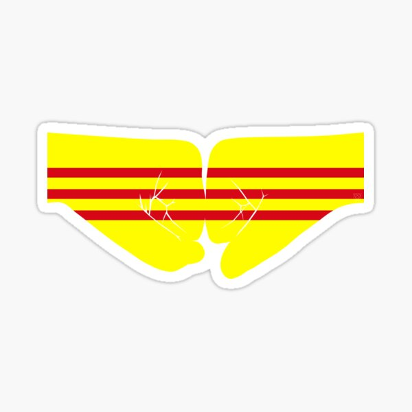 South Vietnam Fist Bump Patriot Flag Series Sticker