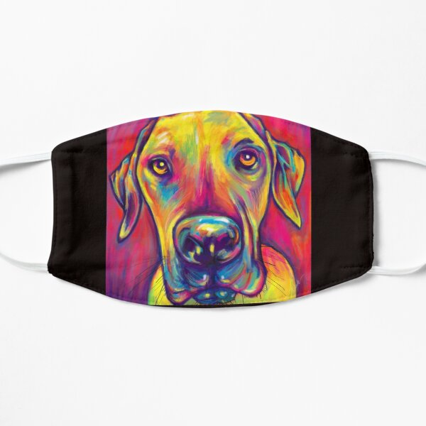 Great Dane Painting Flat Mask