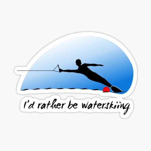 Man waterskiing Sticker