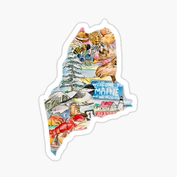The Great State of Maine Sticker