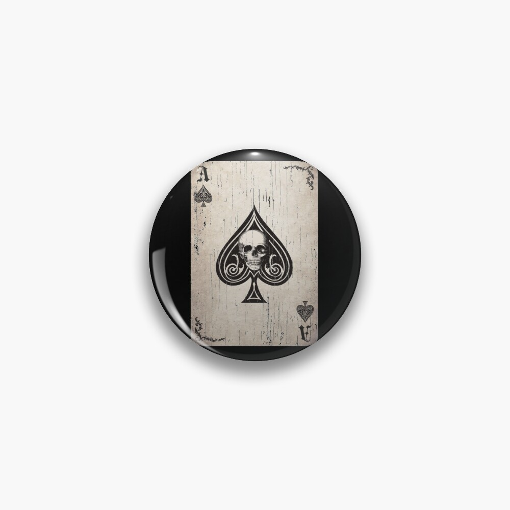 Ace of Spades Death Card Pin
