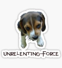 Unrelenting Force - Puppy has POWER Sticker