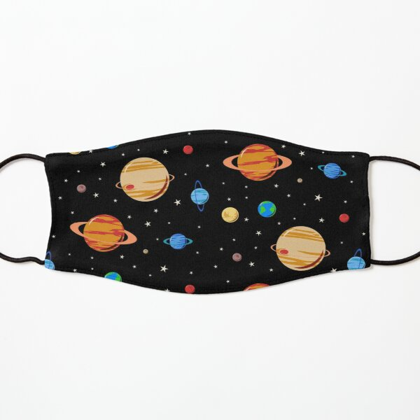 Cute Planets Pattern Kids Mask