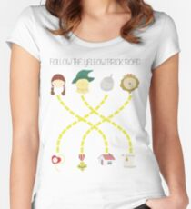 Follow the yellow brick road Women's Fitted Scoop T-Shirt