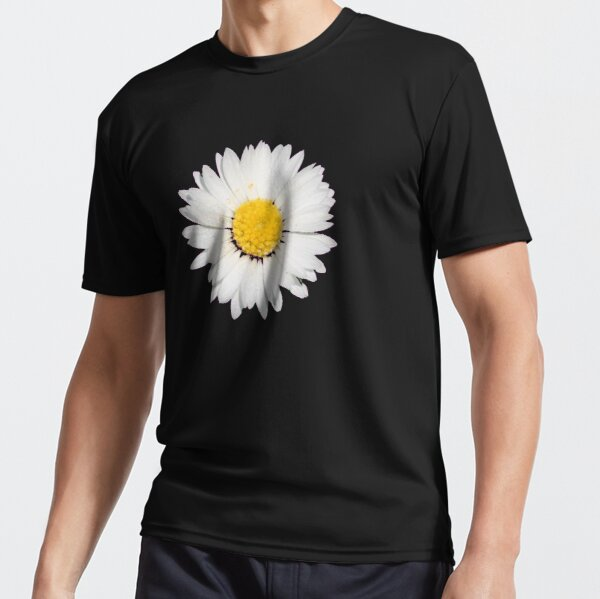 Nine Common Daisies Isolated on A Black Background Active T-Shirt