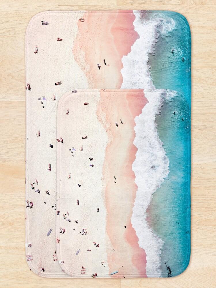 Alternate view of Aerial Sandy Beach Bath Mat