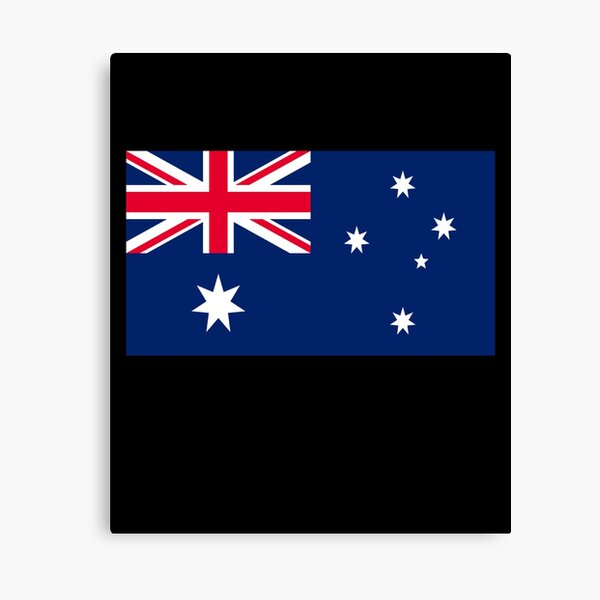 Patriotic Australia Flag - Australia Flag Designs Mask and Clothing Canvas Print