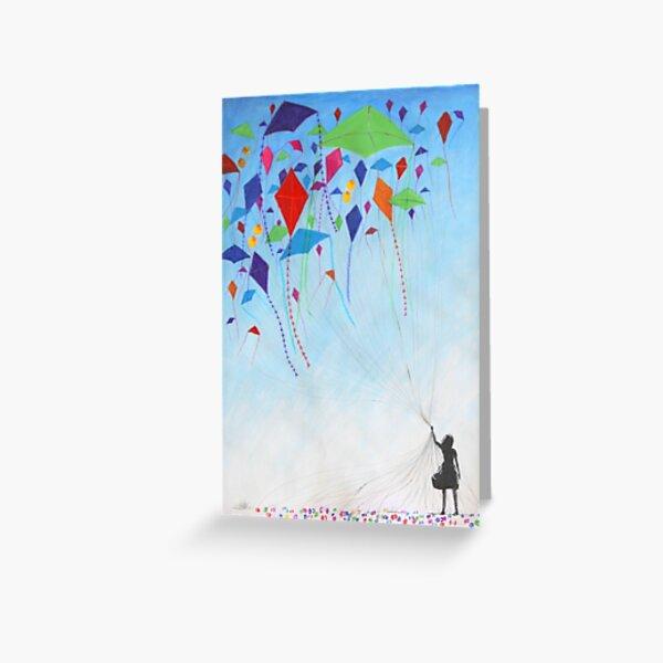 Kite Girl Greeting Card