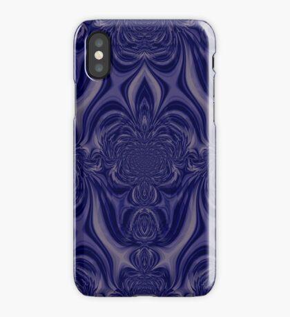Blue pattern I phone 4 iPhone Case/Skin