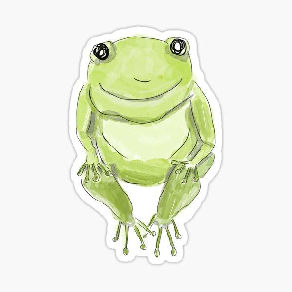 Cute Whimsical Frog Design Sticker